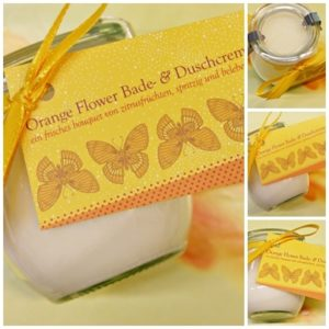 Orange Flower Bade & Duschcreme