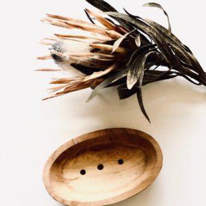 Formschöne Olivenholz Seifenablage Nr. 2