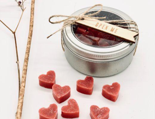 Soap to go - Granatapfelseife mit Bio Schafmilch