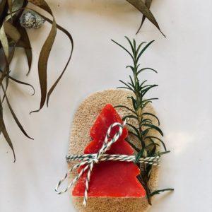 Frische Granatapfelseife & natürliche Luffa Seifenunterlage